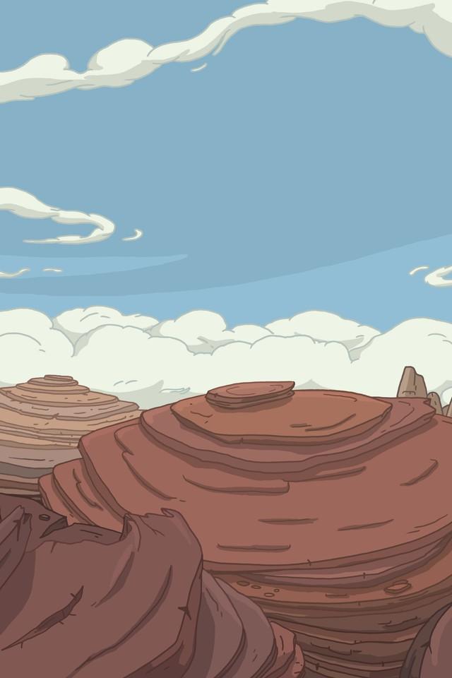 Wallpaper Resolutions - Adventure Time Landscape Iphone , HD Wallpaper & Backgrounds