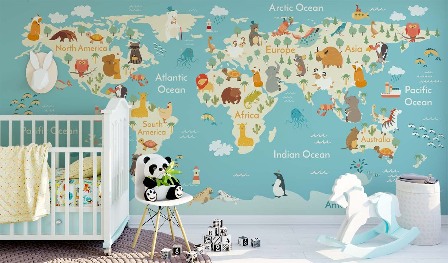 Picture of: Surprising Design Ideas World Map Wallpaper Nursery World Map With Animals 429996 Hd Wallpaper Backgrounds Download