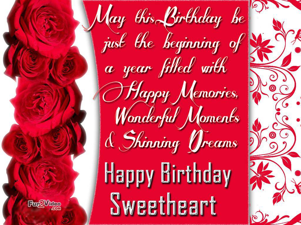 Happy Birthday Wishes And Birthday Wallpaper To Wish Happy Birthday Wishes With Red Roses 431251 Hd Wallpaper Backgrounds Download