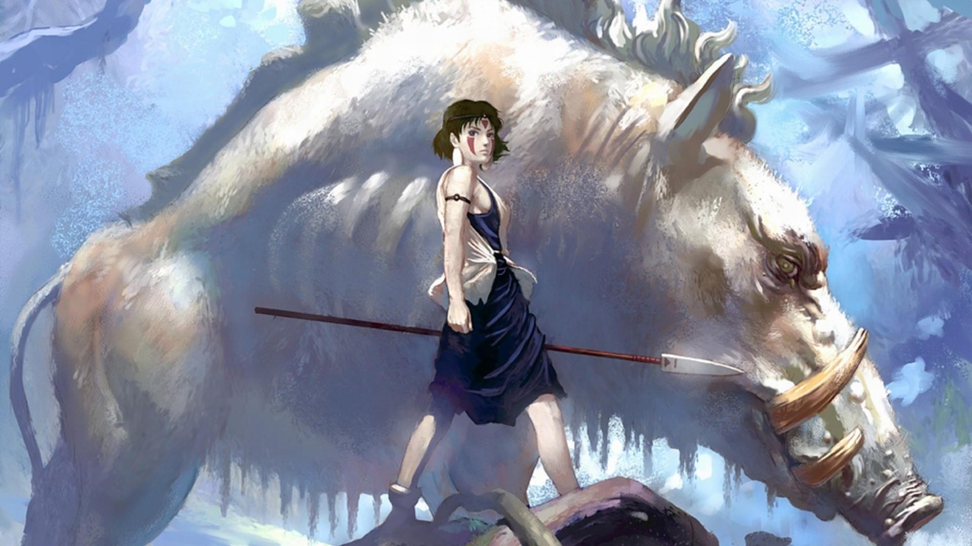 Studio Ghibli Anime Anime Girls Princess Mononoke Princesa Mononoke Wallpaper Hd 431692 Hd Wallpaper Backgrounds Download
