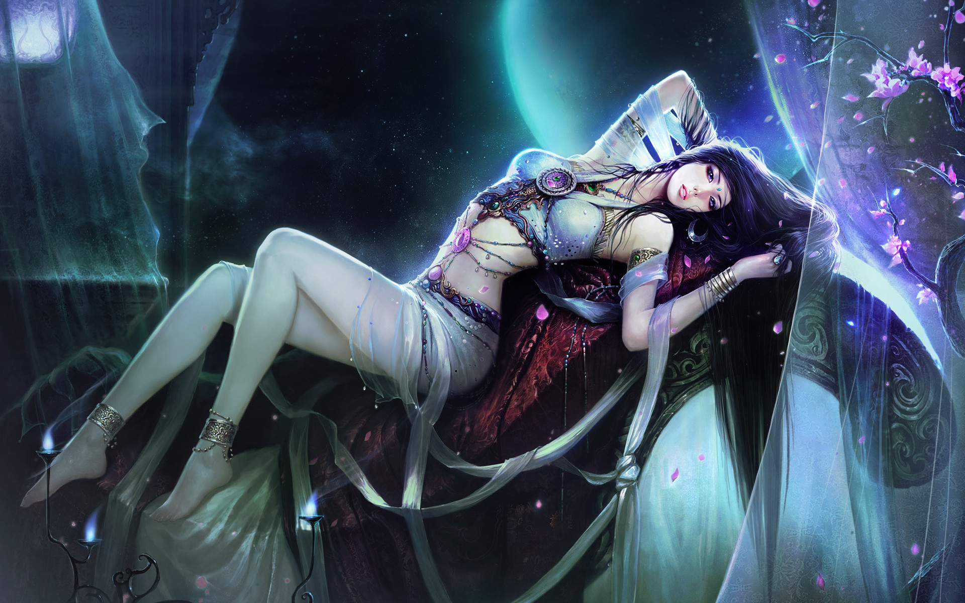 Anime Girls Hd Wallpapers And Backgrounds - Beautiful Fantasy Girl Hd , HD Wallpaper & Backgrounds