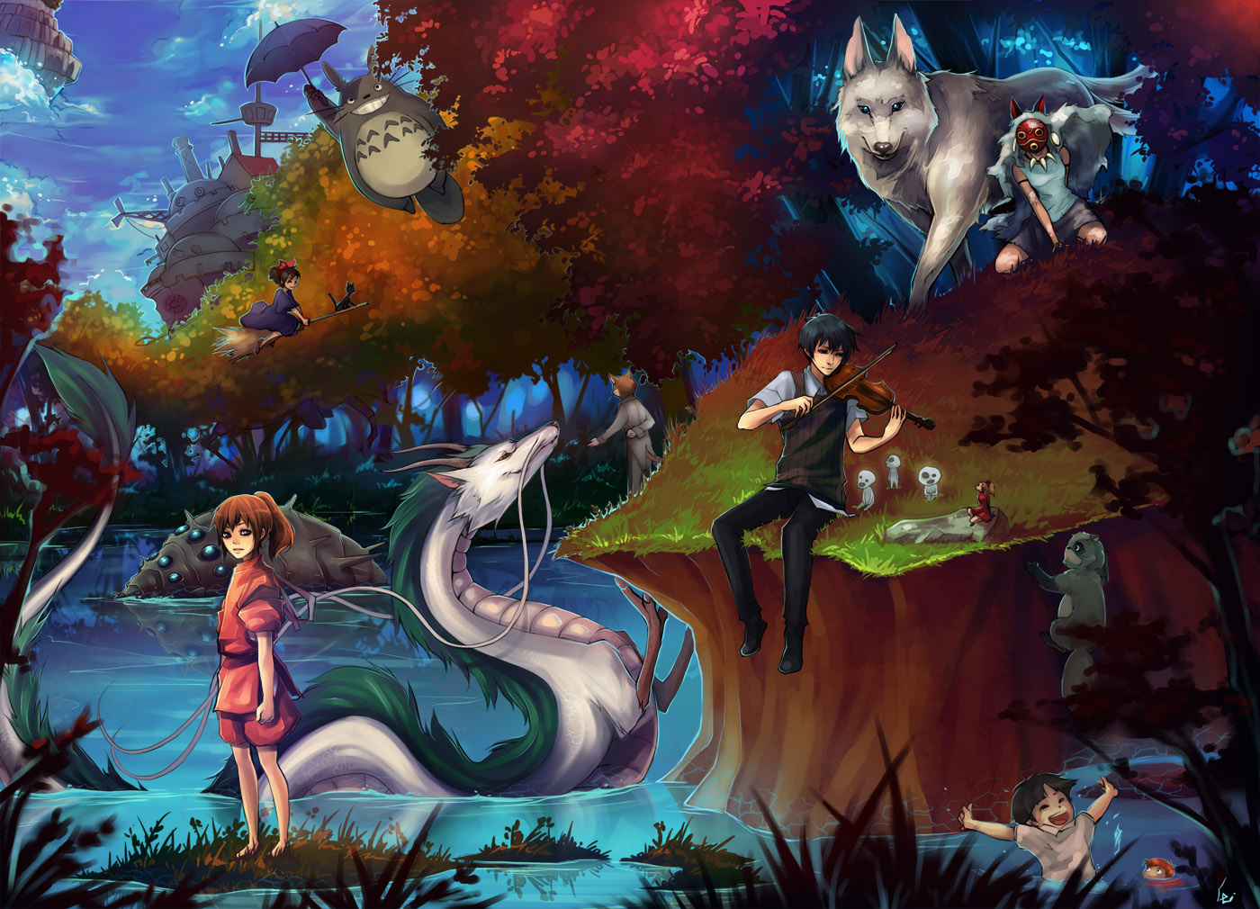 Studio Ghibli Wallpaper Studio Ghibli 432989 Hd Wallpaper