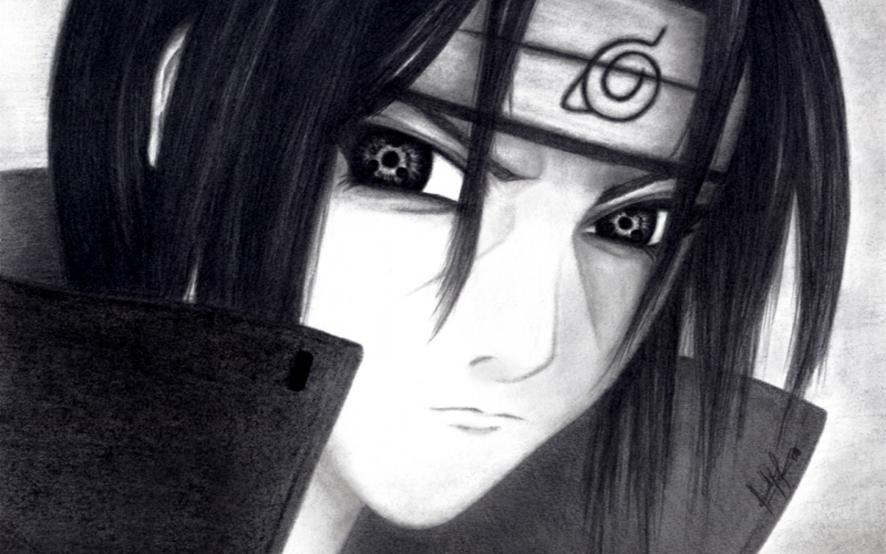 Itachi Uchiha Drawing Wallpaper Anime Hd Wallpaper