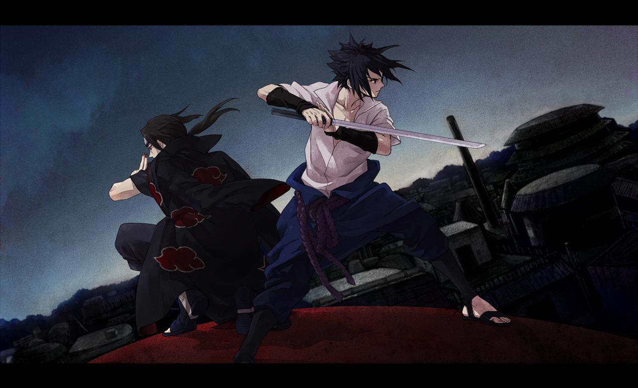 43 434011 sasuke itachi uchiha akatsuki sword anime hd wallpaper