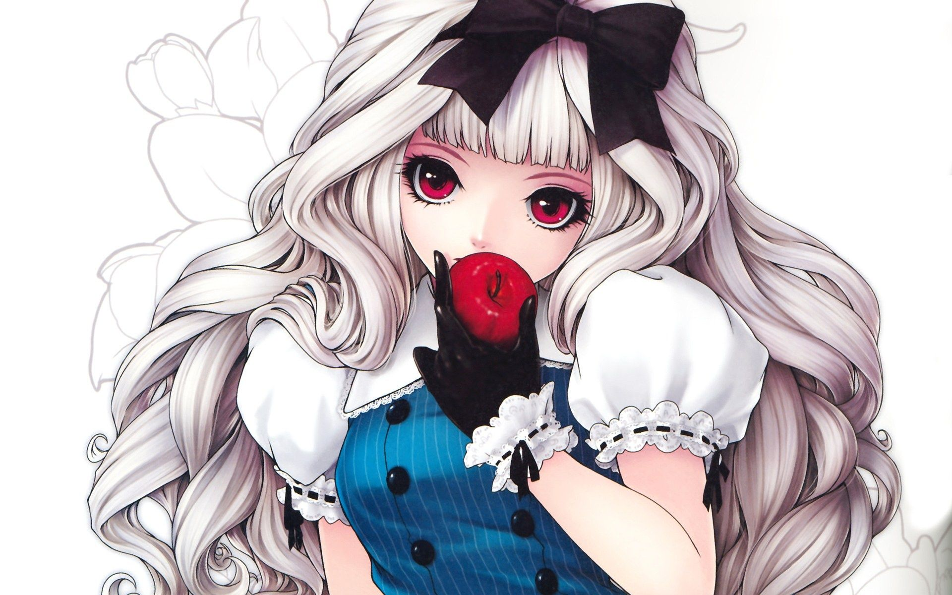 Preview Anime Picture - Anime Girl With Silver Curly Hair , HD Wallpaper & Backgrounds