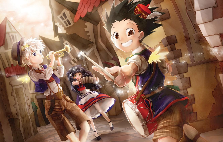 Photo Wallpaper Children, Anime, Art, Hunter X Hunter, - Gon Hunter X Hunter Alluka , HD Wallpaper & Backgrounds