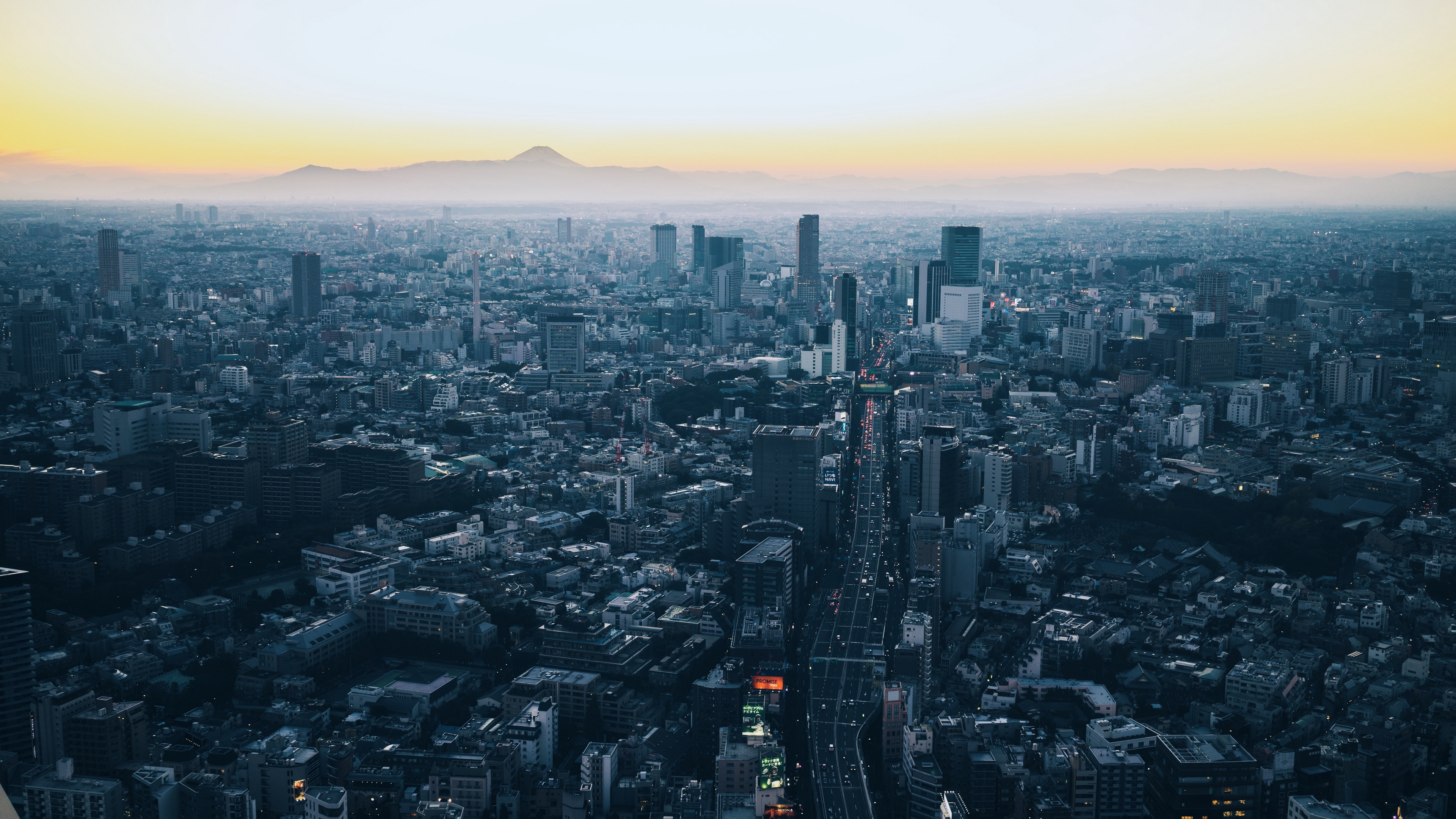 Wallpaper Minato Japan Skyscrapers City View From 4k
