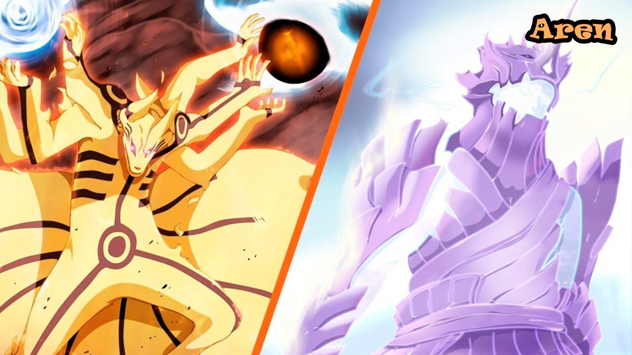 Naruto Kurama Mode Vs Sasuke Susanoo Superb Widescreen Naruto