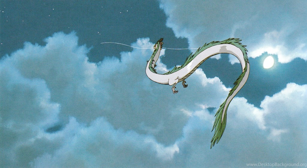 Studio Ghibli Wallpaper Spirited Away Haku Flying 435465 Hd Wallpaper Backgrounds Download