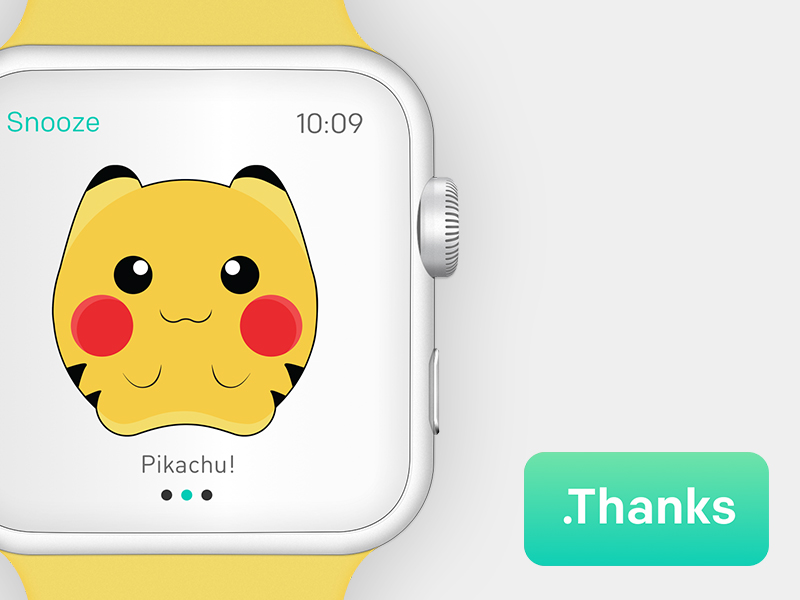 Iwatch Alarm Clock By Maria Clara Irisarri - Pikachu Apple Watch Face , HD Wallpaper & Backgrounds
