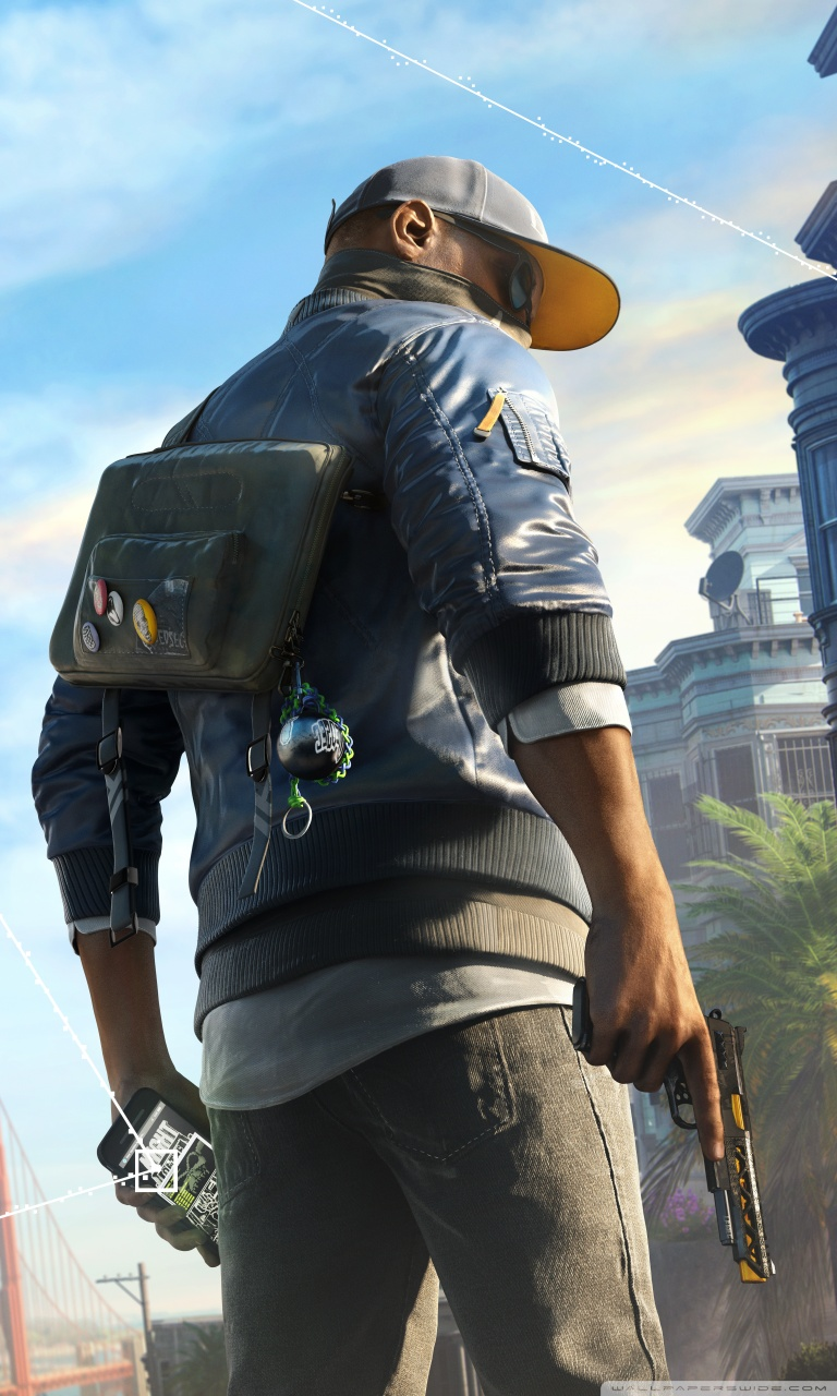 Tablet - Marcus Watch Dogs 2 Png , HD Wallpaper & Backgrounds