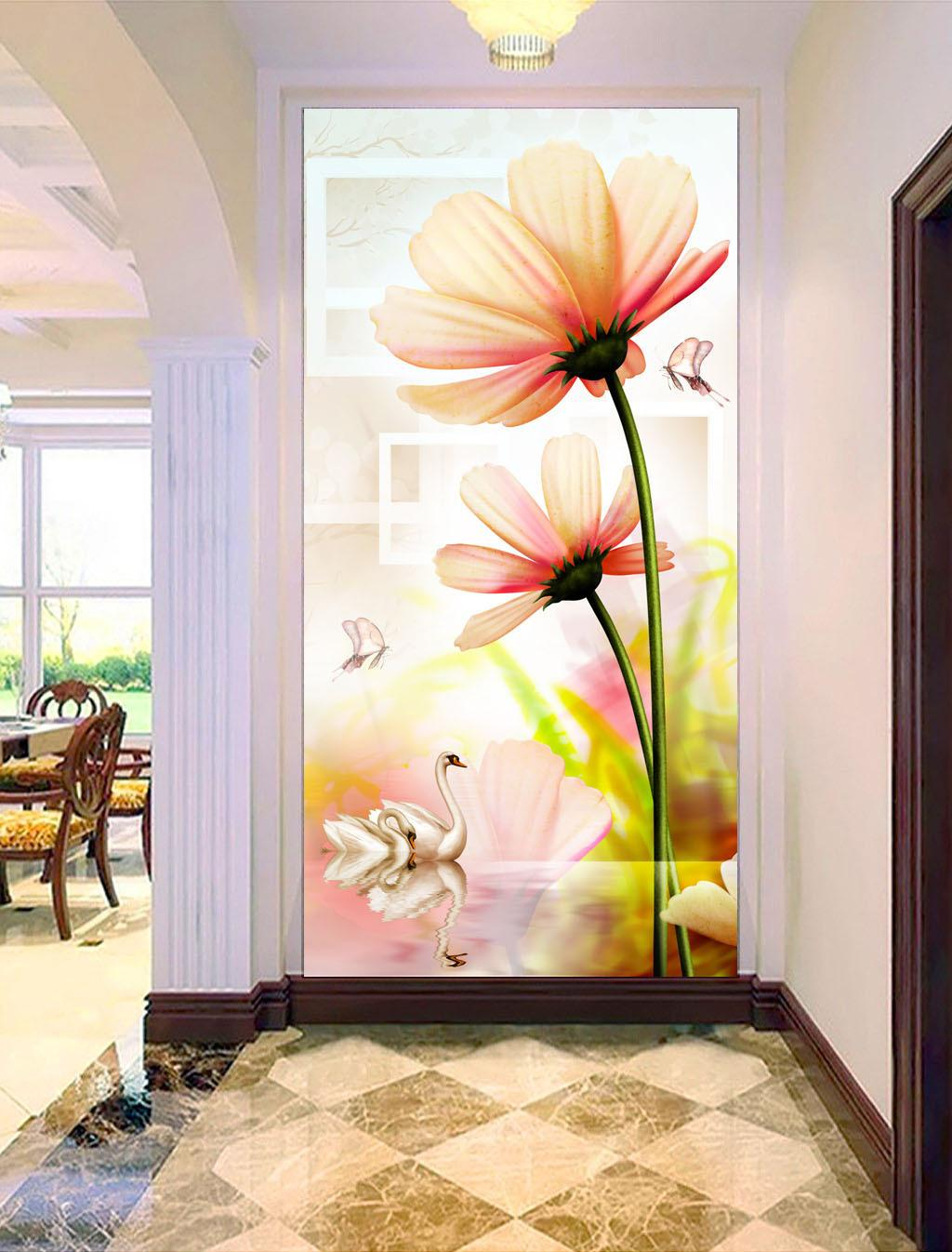 Custom Retail Fantasy Swan Lake Flower Porch Beautiful - Open Place Wallpaper For Mobile , HD Wallpaper & Backgrounds