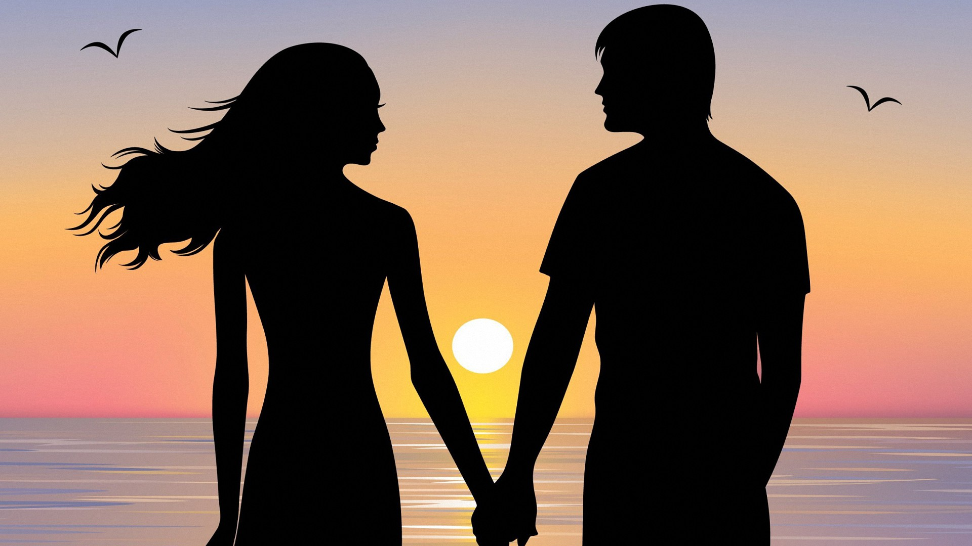 Love Couple Hd Wallpapers 1080p Free Download 42 Cerc Silhouette Girl And Boy 438456 Hd Wallpaper Backgrounds Download