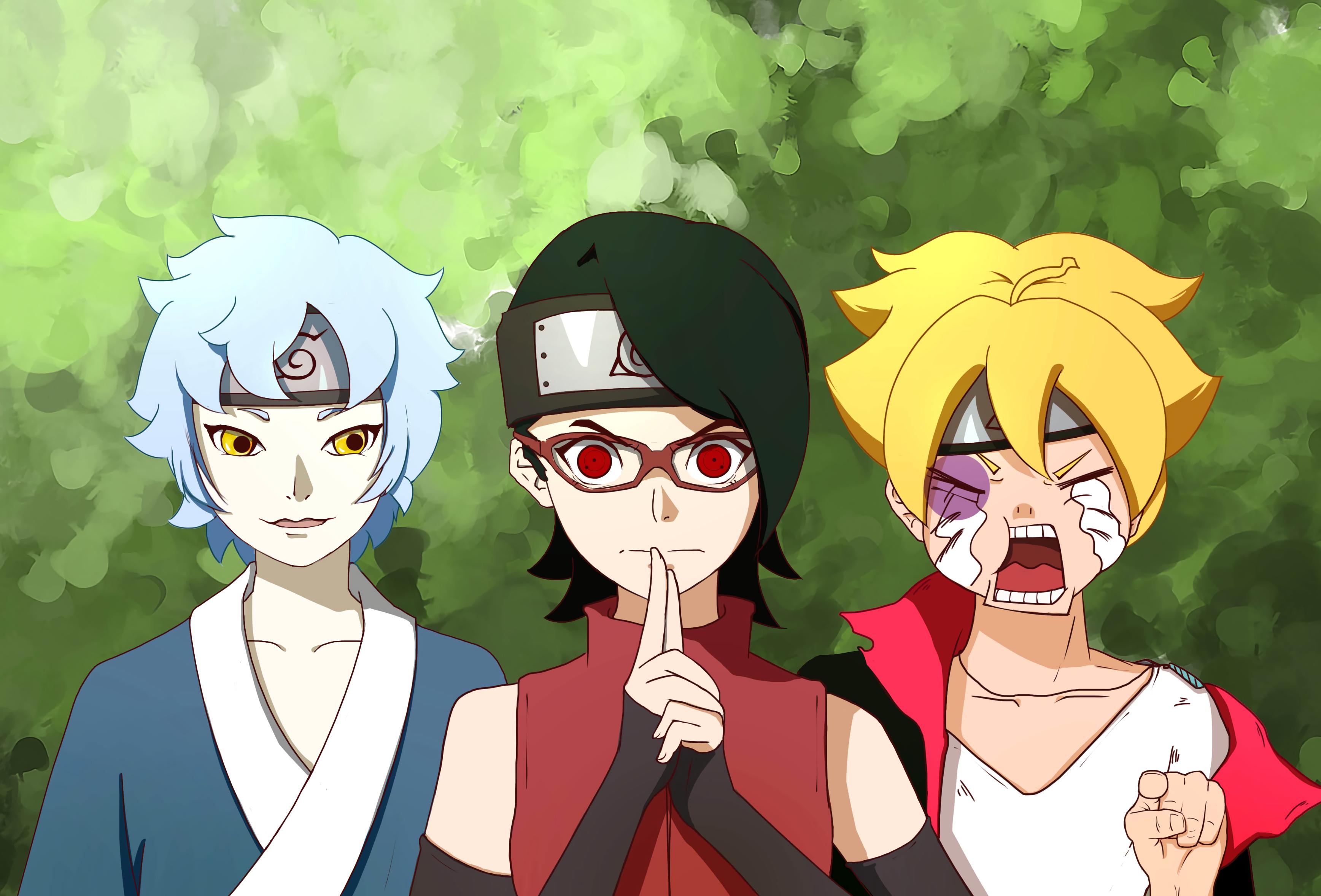 Sarada Uchiha Mitsuki Naruto Boruto Uzumaki Sarada Boruto