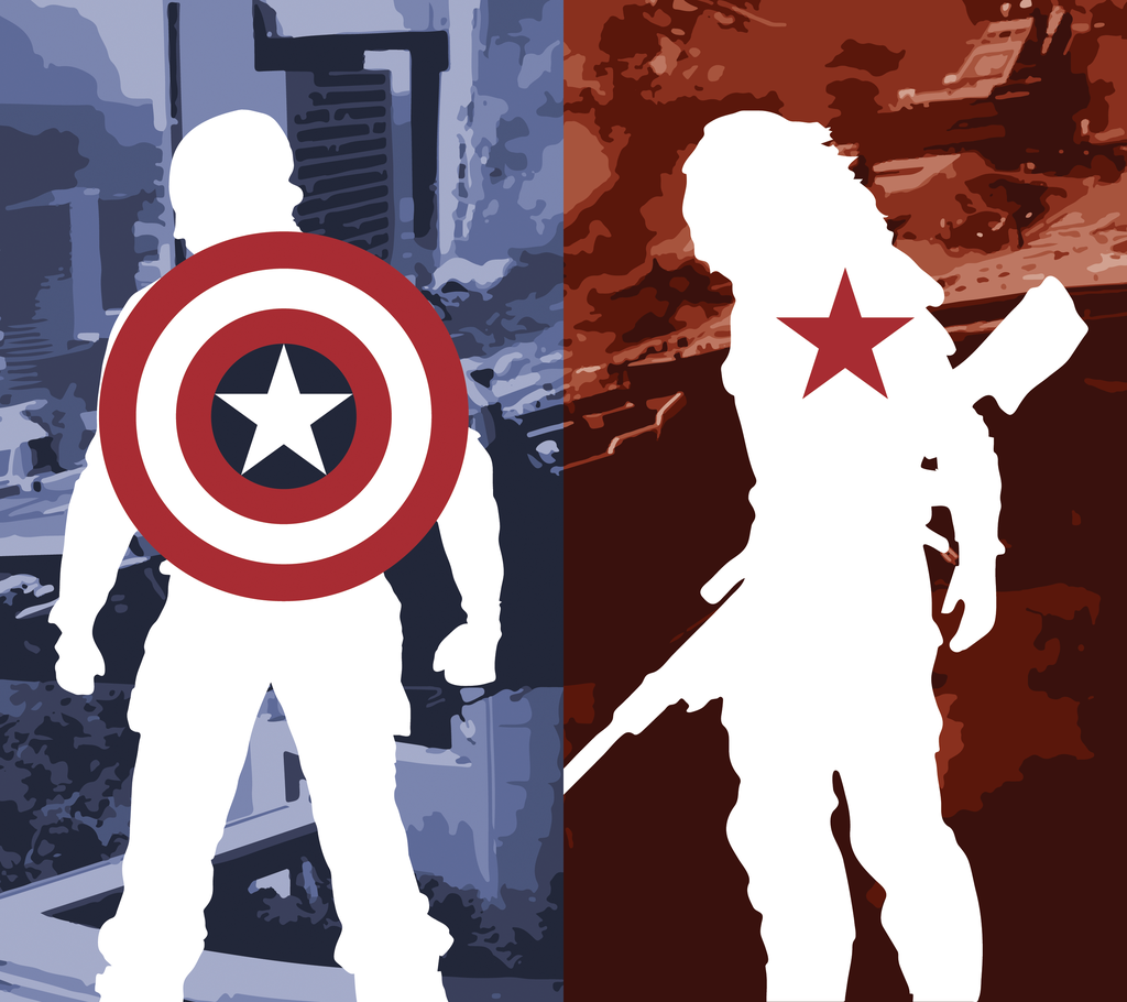 Captain America And Winter Soldier Fan Art 439413 Hd Wallpaper Backgrounds Download