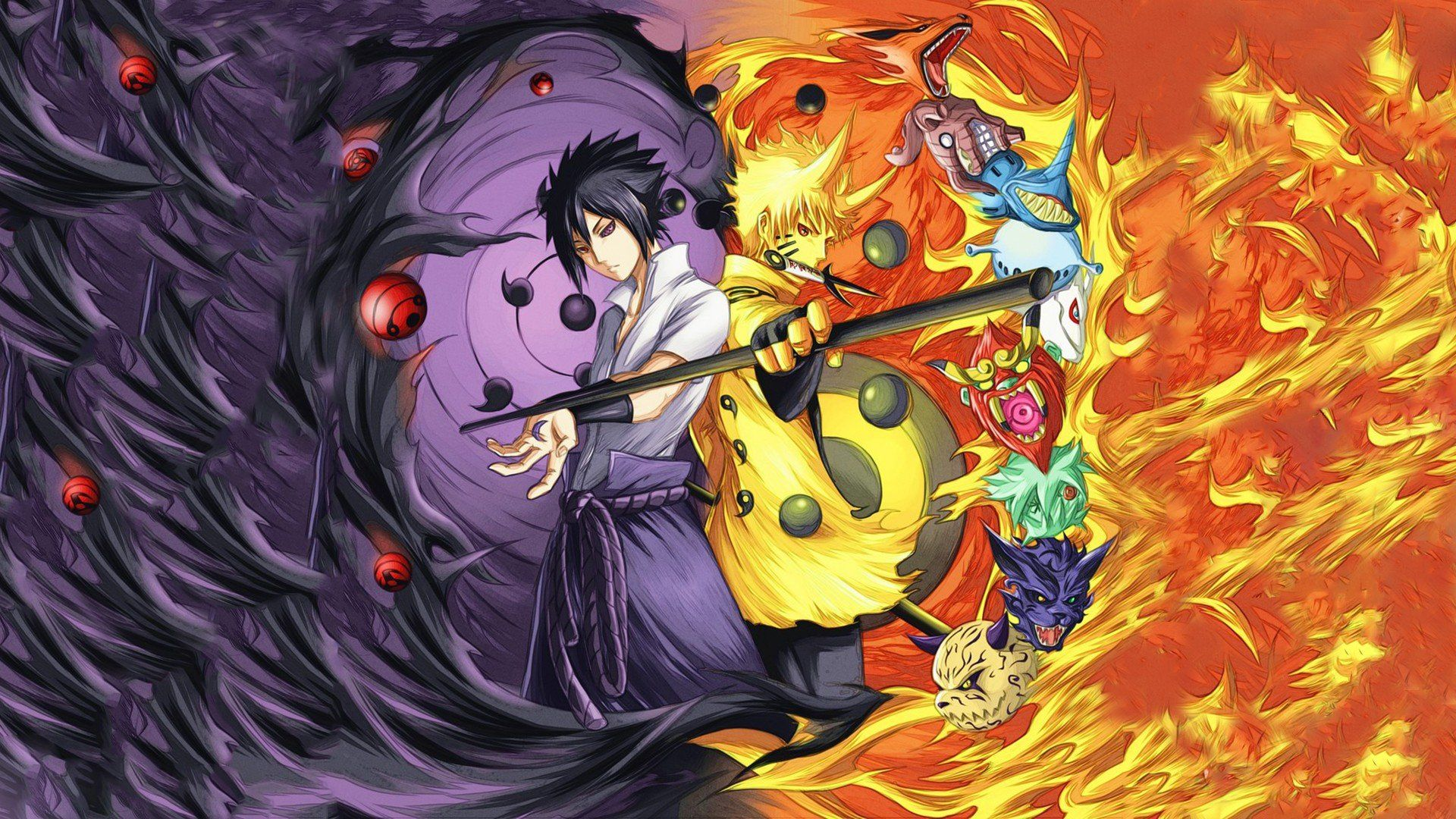 Naruto Vs Sasuke Wallpaper Hd Naruto Vs Sasuke