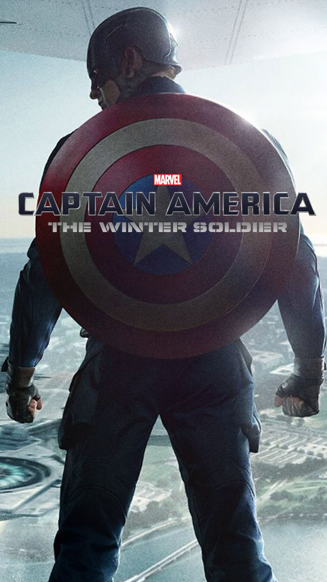 Captain America The Winter Soldier - Captain America Wallpaper Iphone X , HD Wallpaper & Backgrounds