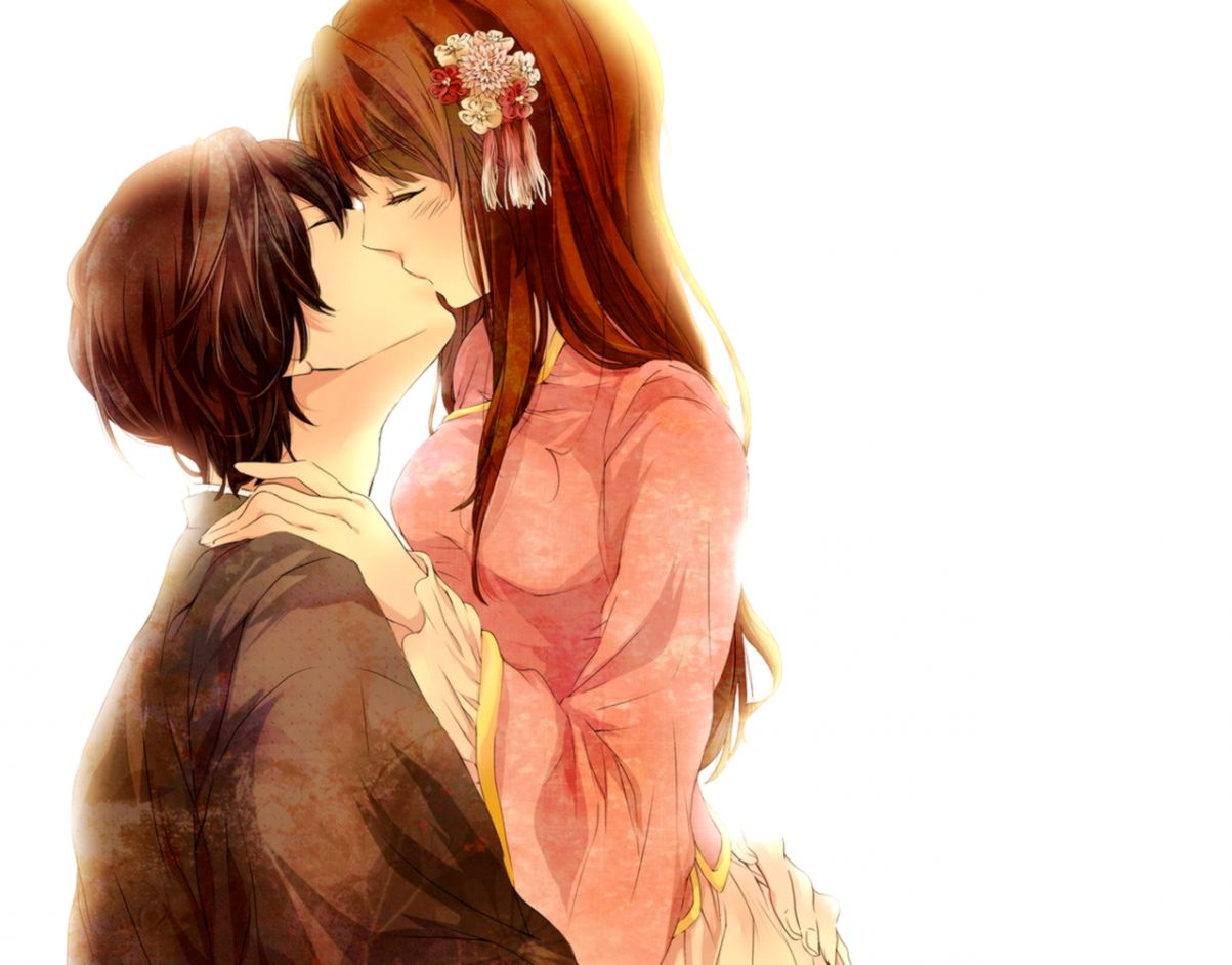 Image Anime Love Couple Kissing Wallpaper Bleach Rp - Love Couples Cartoon Kissing , HD Wallpaper & Backgrounds