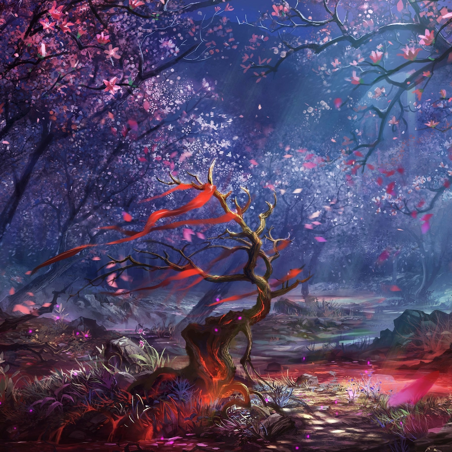 Sakura Tree Animated Live Wallpaper Free Animated Fantasy Forest Wallpaper Hd 441529 Hd Wallpaper Backgrounds Download