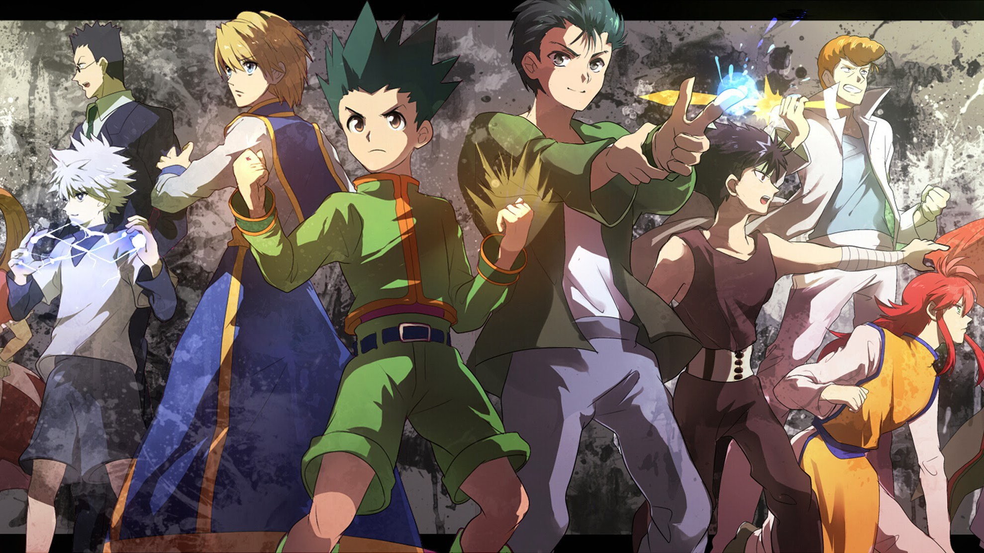 Yu Yu Hakusho Hunter X Hunter Crossover 1080p Hd Wallpaper Yu Yu