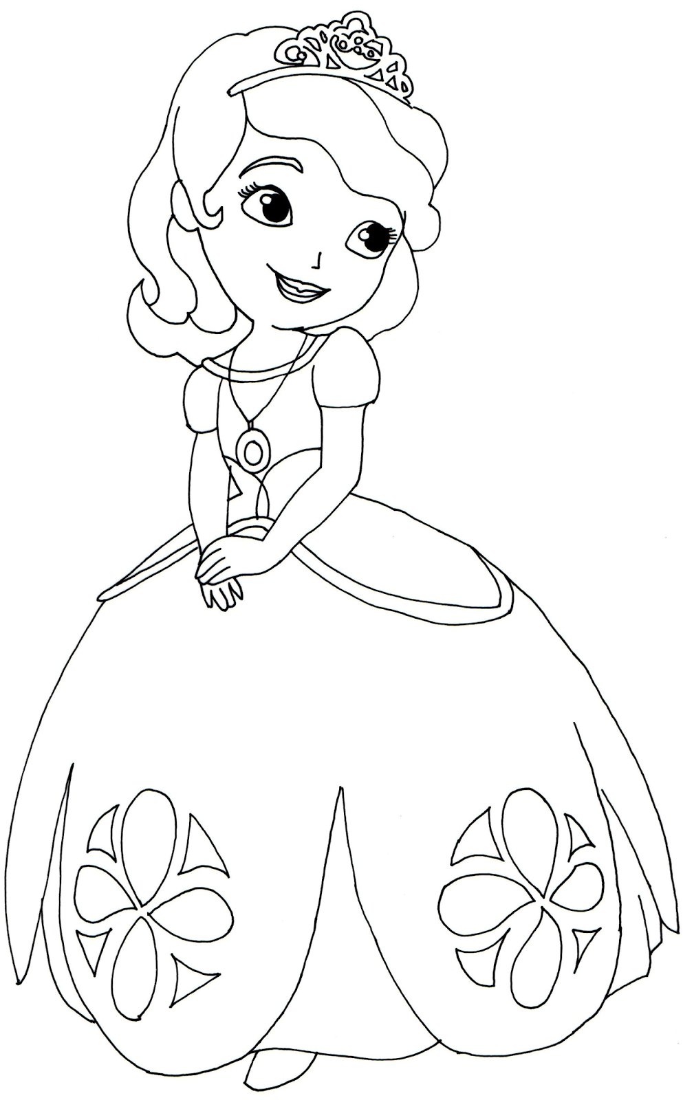 Sofia First Coloring Pages Cartoon Wallpapers Colouring