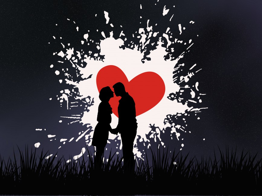 Couple Kiss Love Heart Silhouettes Kiss Love 443271 Hd