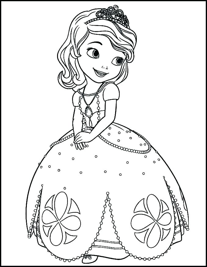Princes sofia free to color for kids - Sofia the First Kids ... | 875x678