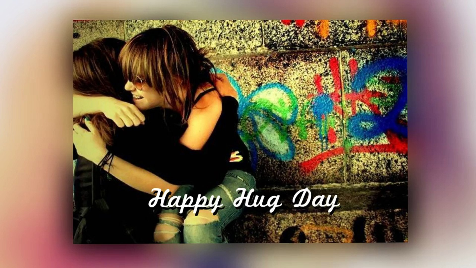 Happy Hug Day Wallpaper For Whatsapp Facebook Pinterest - Hug Day With Rose , HD Wallpaper & Backgrounds