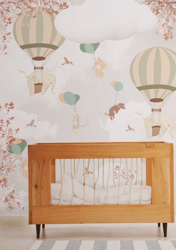 Little Hands Wallpaper Mural - Papel De Parede De Balao Para Bebe , HD Wallpaper & Backgrounds