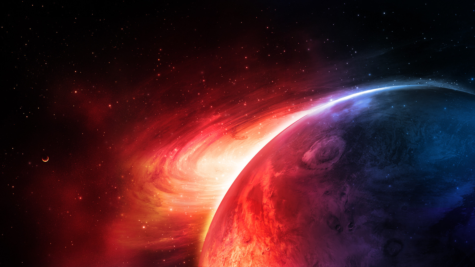 Red Space 1920x1080 Hd Wallpaper Red Space Desktop