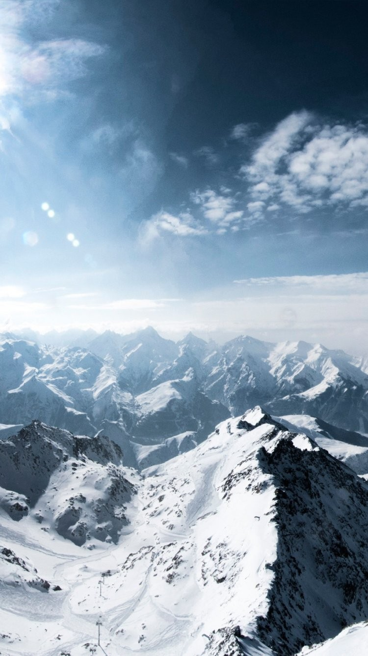 Download Wallpaper Snow Mountains Background Iphone