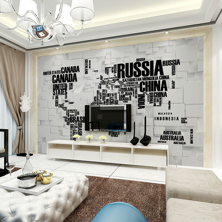 Fashion 3d Wallpaper World Map Photo Wallpaper Wall Mapa