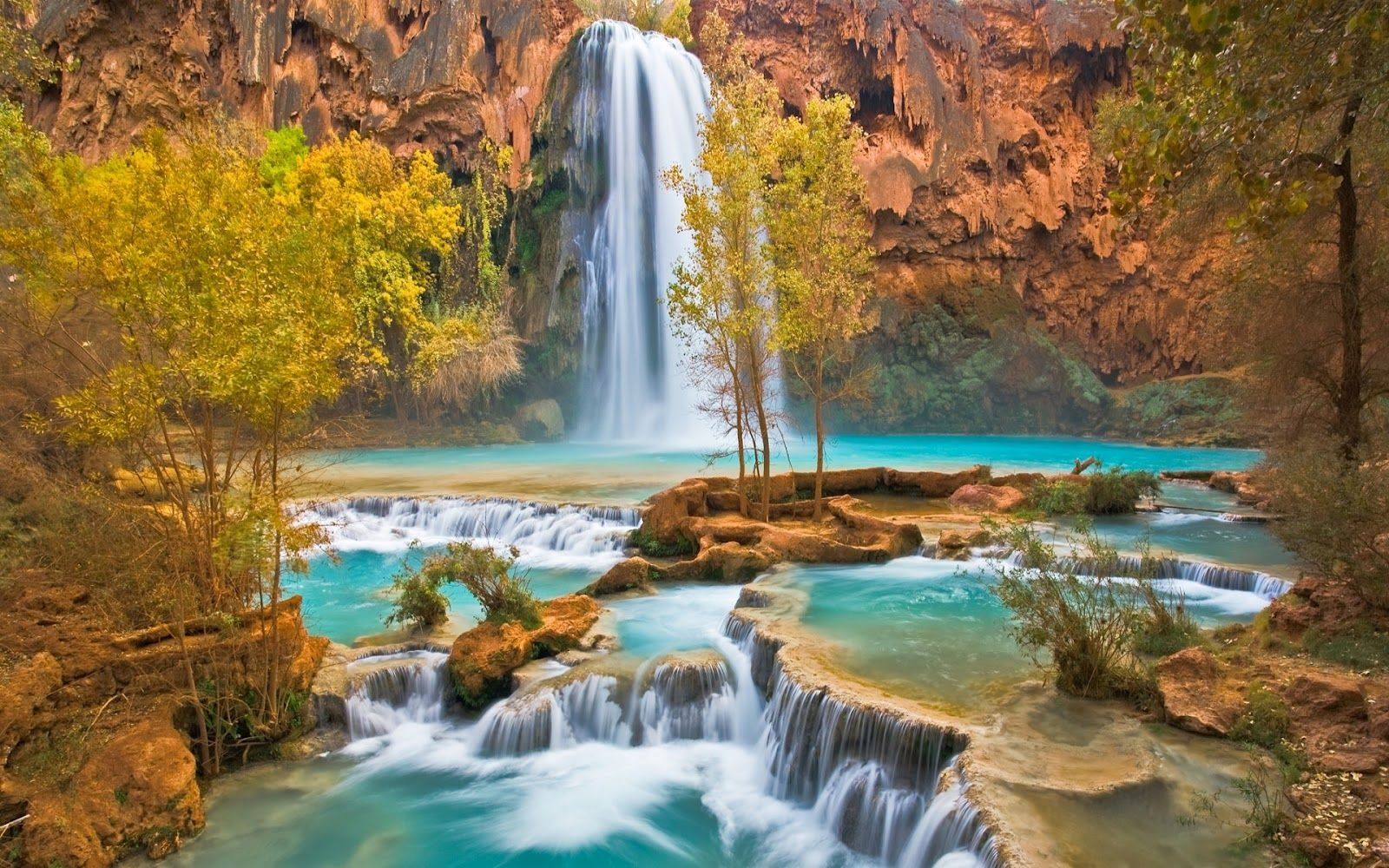 Download <== Free Download Animated Nature Wallpapers - Havasu Falls , HD Wallpaper & Backgrounds