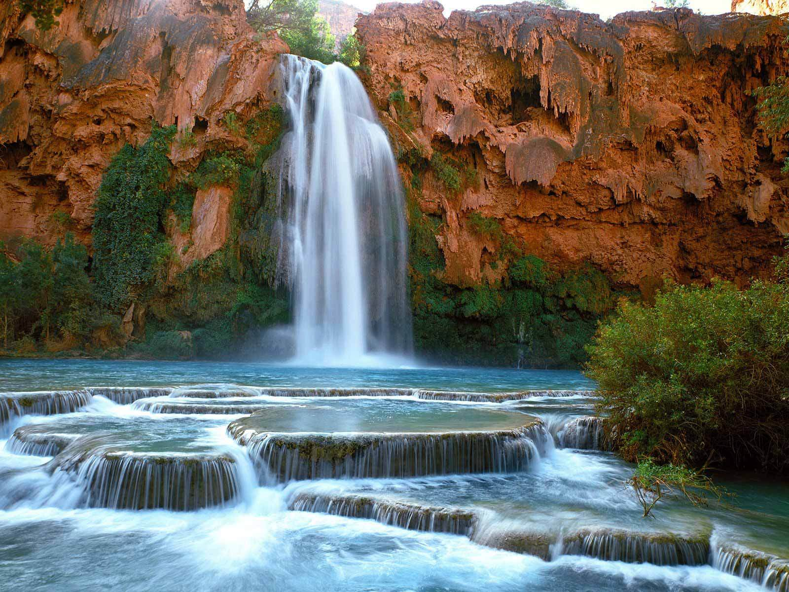 Havasu Falls Grand Canyon Usa , HD Wallpaper & Backgrounds