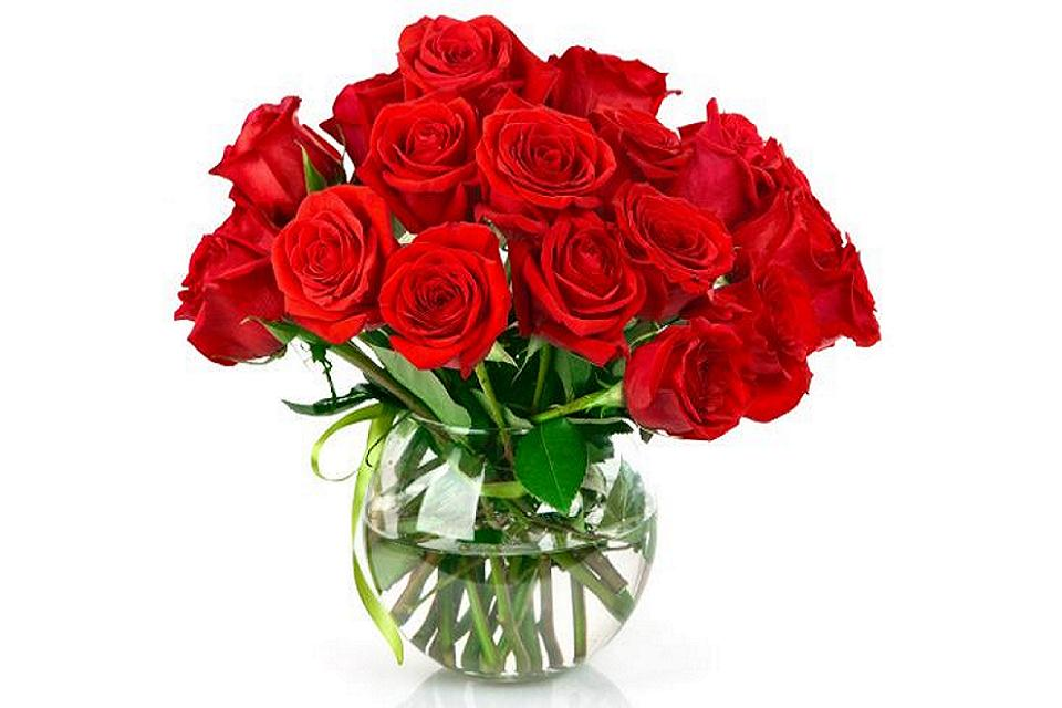 Flowerpot Nature Wallpapers Free Download - Bouquet Red Roses , HD Wallpaper & Backgrounds