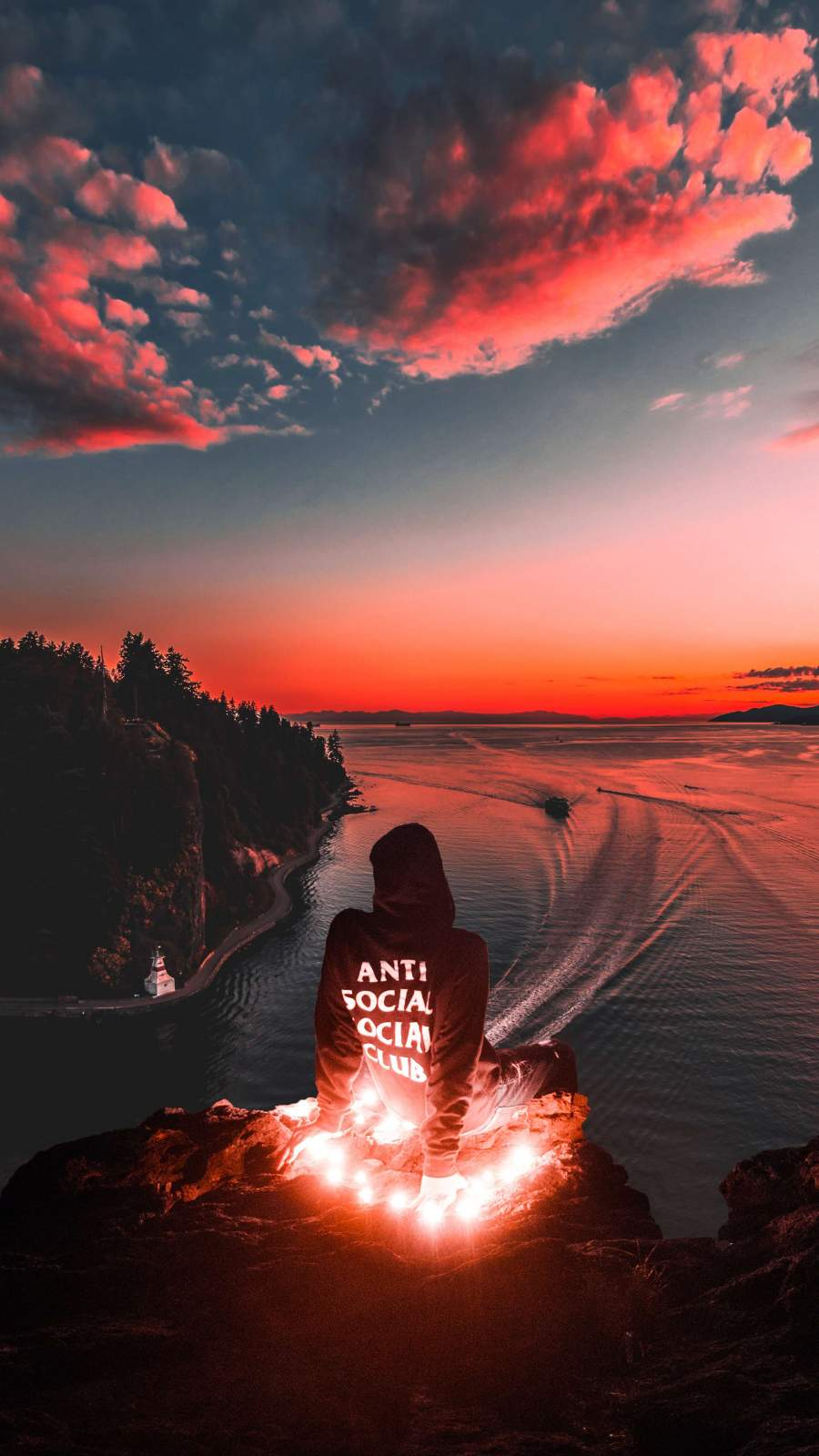 Anti Social Club Sunset Iphone Wallpaper Sunset Phone