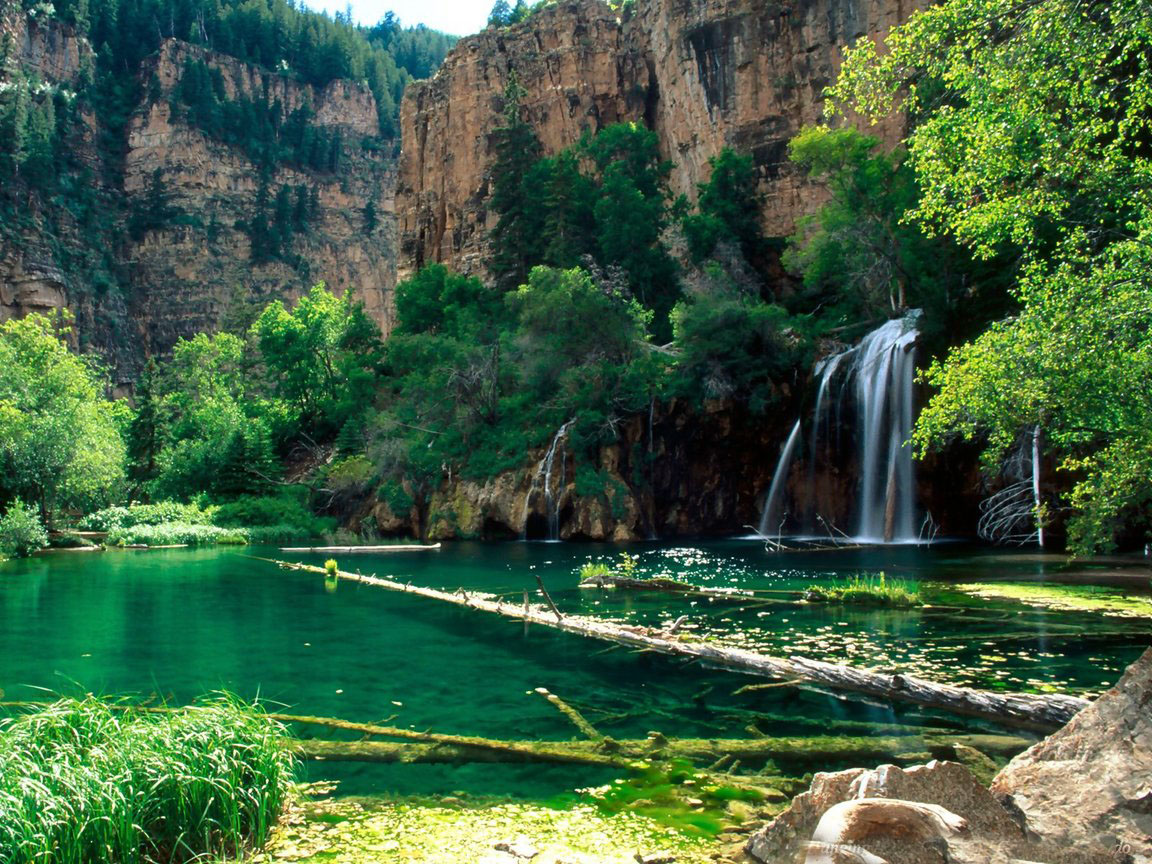 Beautiful Nature Wallpaper Free Download - Hanging Lake , HD Wallpaper & Backgrounds