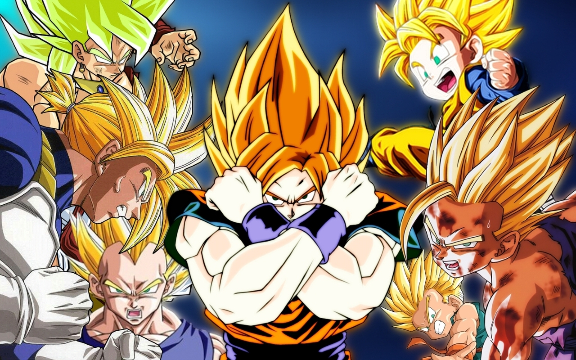 Dragon Ball Wallpaper Vegeta Goku Trunks Goten 452488