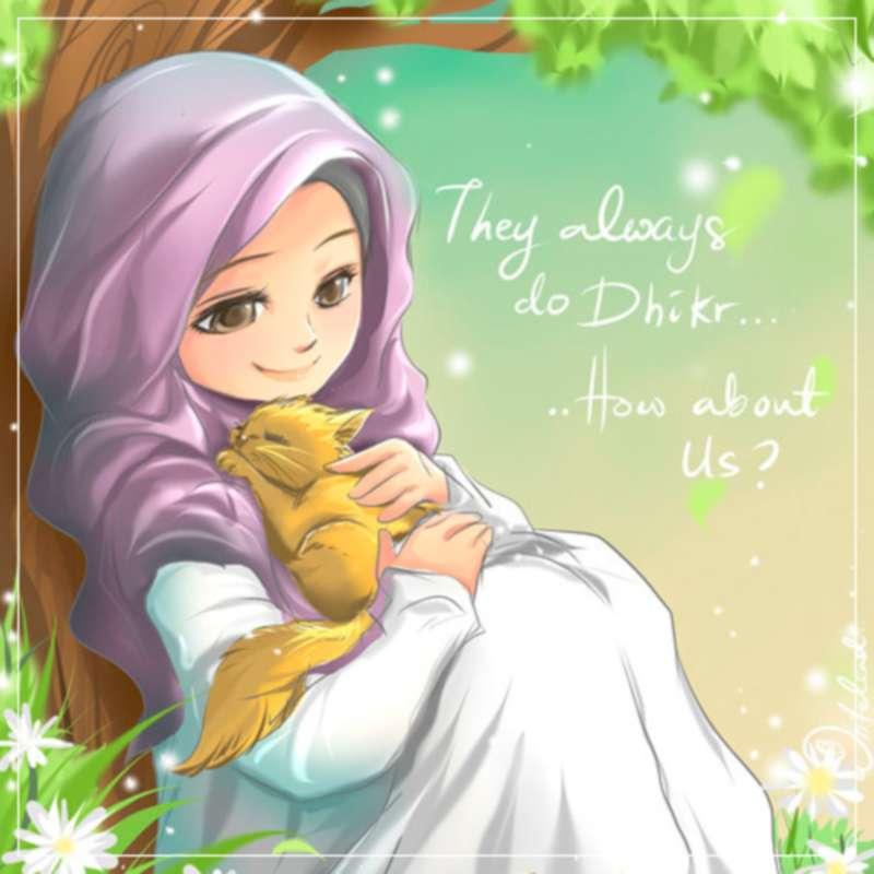 Gambar Kartun Wanita Muslimah - Kartun Muslimah , HD Wallpaper & Backgrounds