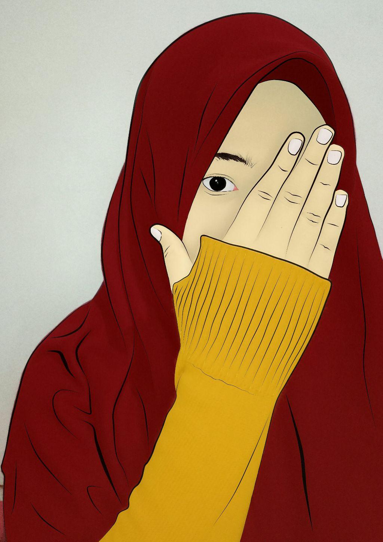 #hijab #jilbab #kartunmuslimah #cartoon #islam #muslimah - Kartun Muslimah Jilbab Gambar , HD Wallpaper & Backgrounds
