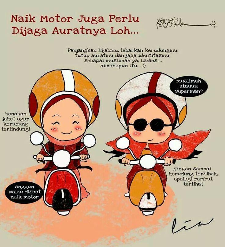 Paling Bagus 16+ Gambar Kartun Naik Motor - Richa Gambar