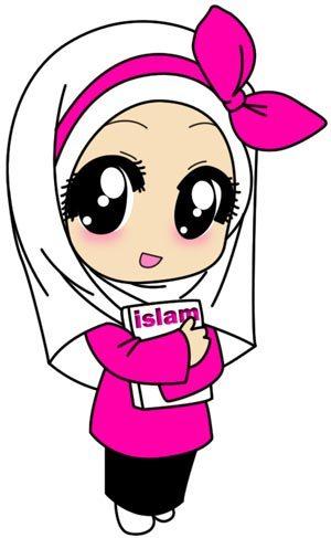 75 Gambar Kartun Muslimah Cantik Dan Imut Bercadar - Animasi Muslimah Anak Kecil , HD Wallpaper & Backgrounds