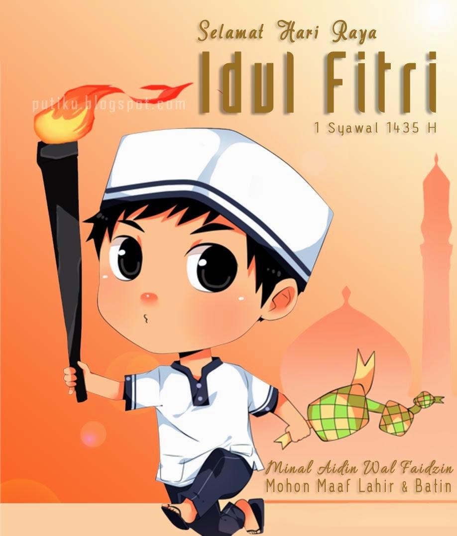 Kumpulan Gambar Kartun Muslimah Hari Raya Ucapan Idul Fitri Kartun 456726 Hd Wallpaper Backgrounds Download