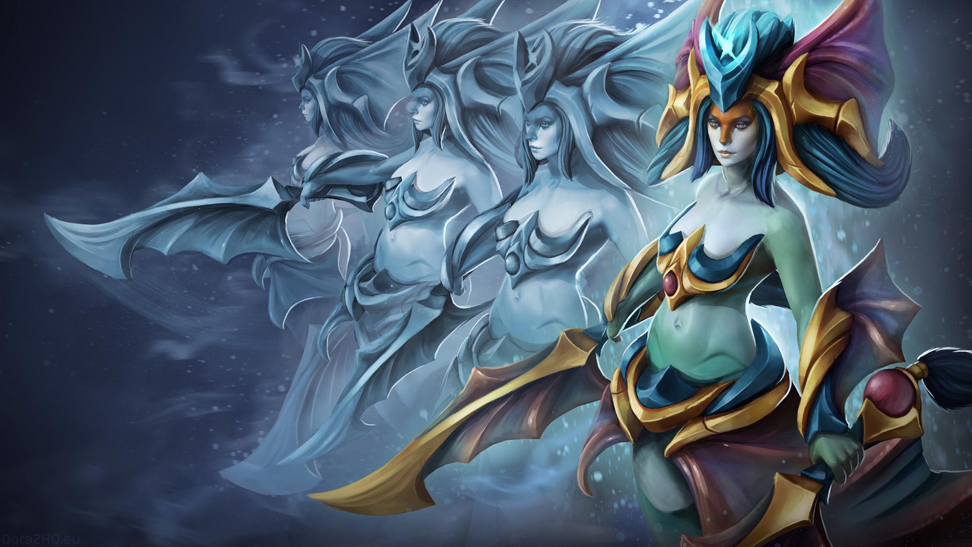 Naga Siren Empress Dota 2 Viewed Through A Prism Desktop - Naga Siren Dota 2 , HD Wallpaper & Backgrounds