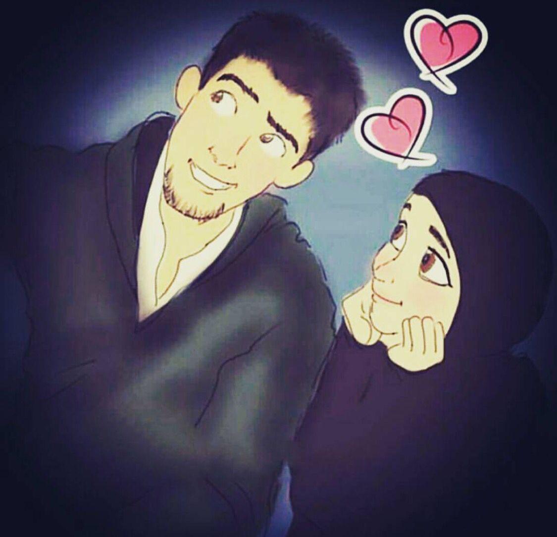 Islamic Anime Wallpaper Beautiful Love Muslim Couples