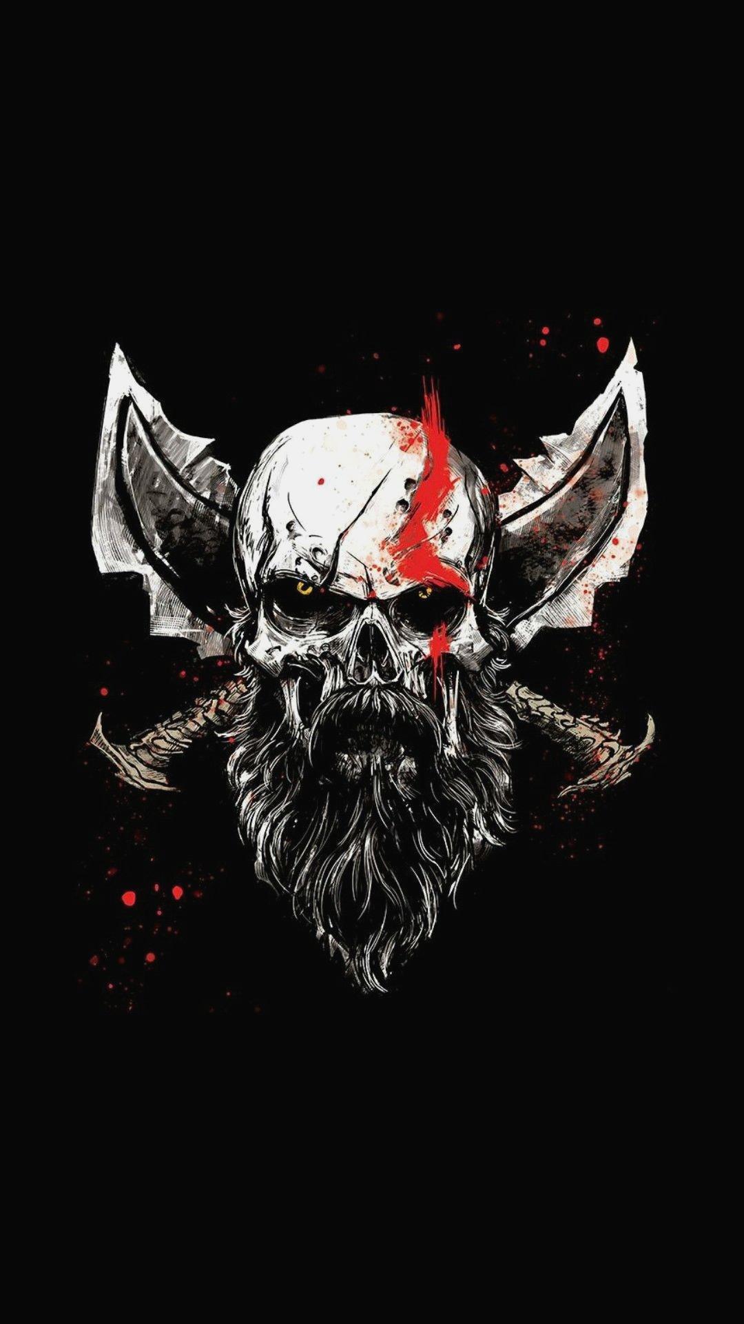 God Of War Wallpaper God Of War Skull 459542 Hd Wallpaper