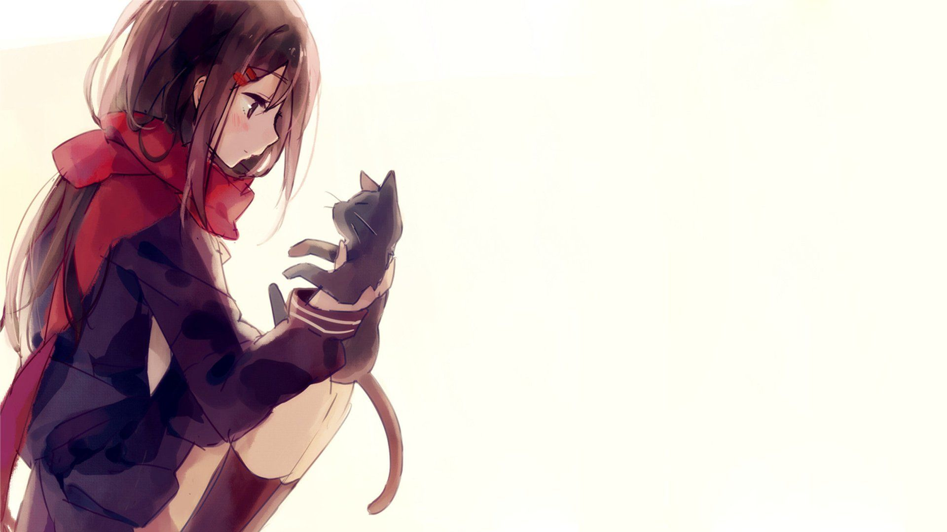 Anime Girl Wallpaper Full Hd, Beautiful Wallpaper Full - Cute Anime Cat Girl , HD Wallpaper & Backgrounds