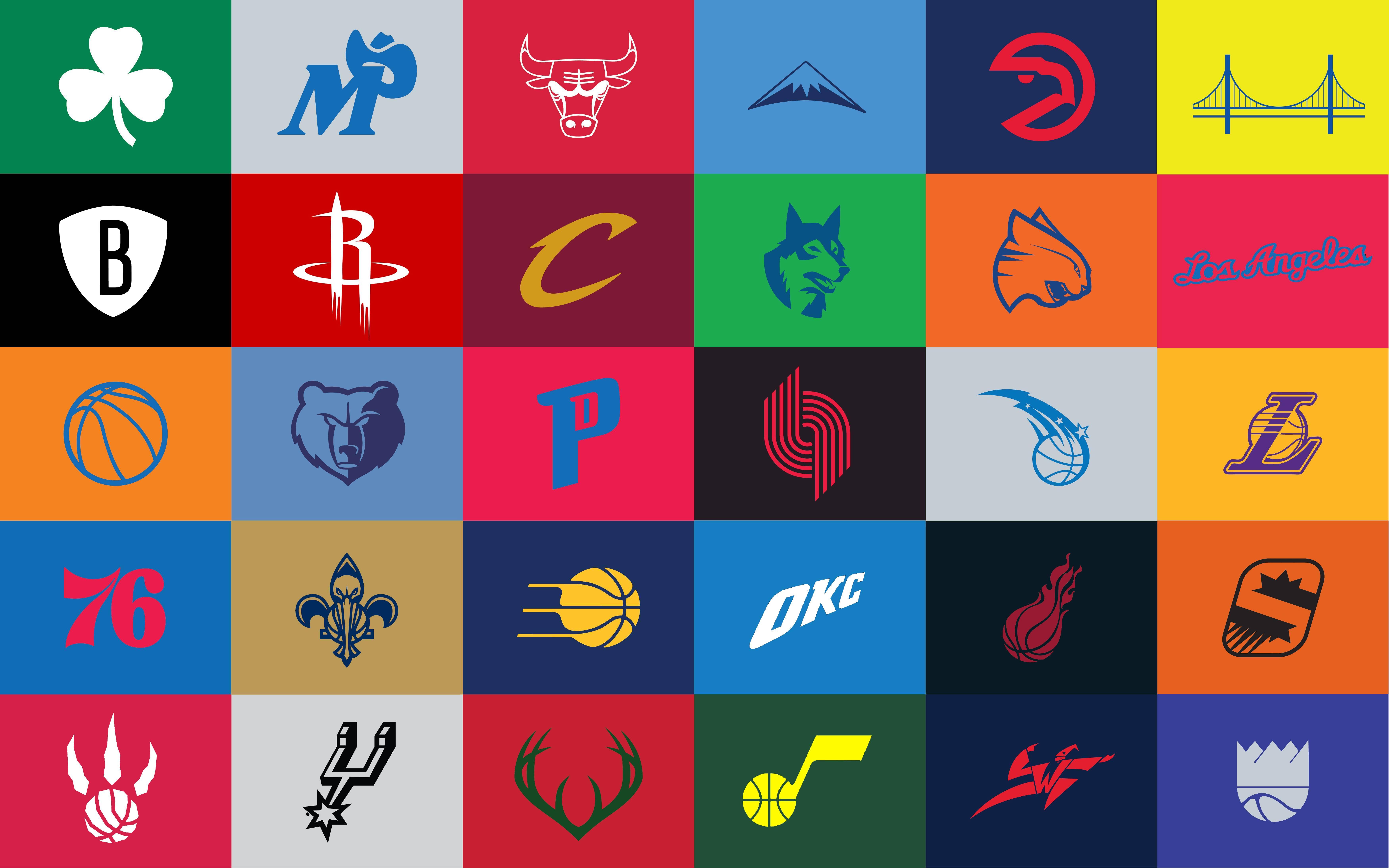 I Made A Few Adjustments To The Minimalist Nba Logos - Nba Team Logos Minimalist , HD Wallpaper & Backgrounds