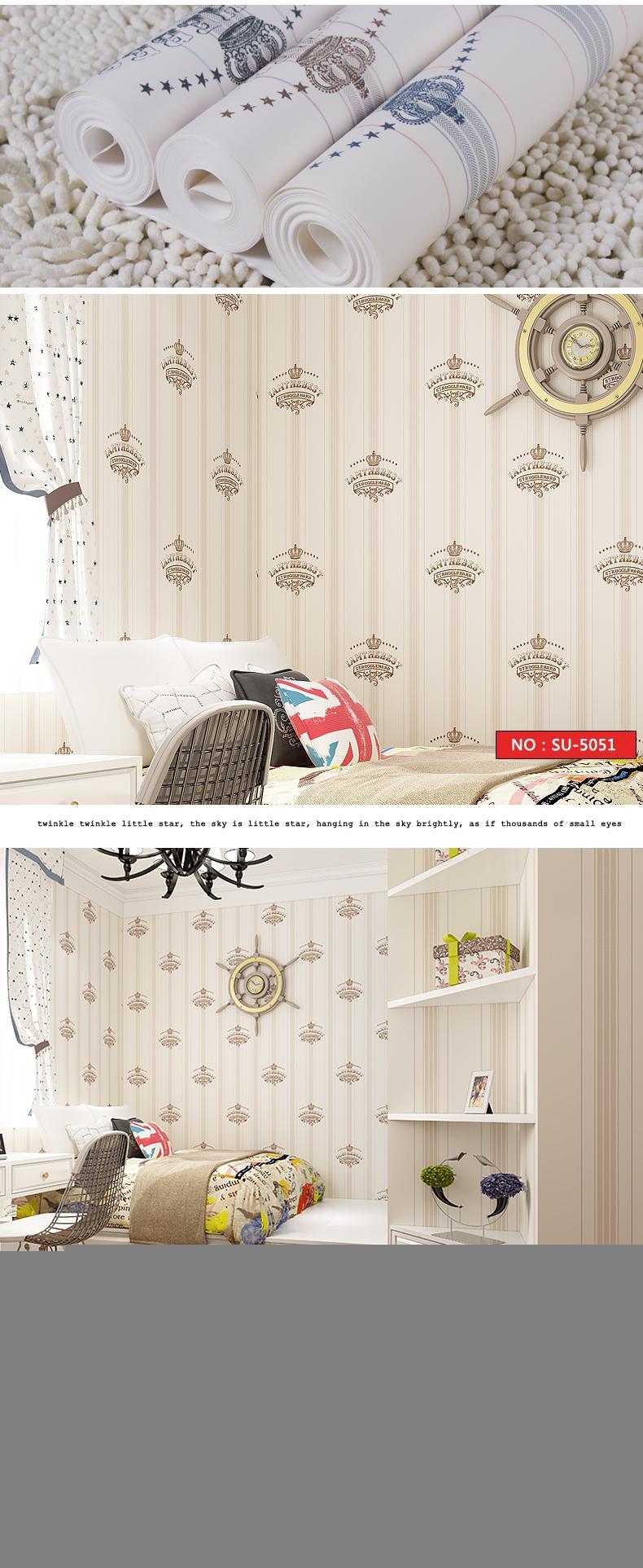 Children\'s Room Wallpaper Nonwoven Fabric Mediterranean ...