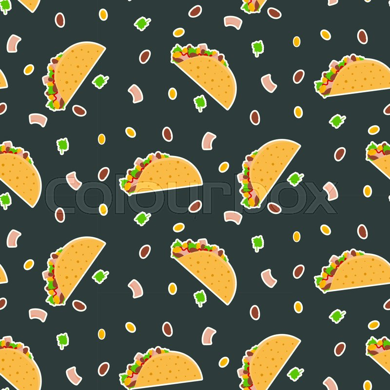 Stock Vector Of Cute Cartoon Contrast Vector Mexican Cute Taco Backgrounds 462961 Hd Wallpaper Backgrounds Download